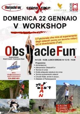V  Workshop ObstacleFun 22 Gennaio 2017 Roma
